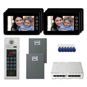 Home Security Door Entry Video Intercom System Kit With 6 7 Color Monitors