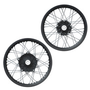 Indian Motorcycle Black Front And Rear Wire Wheel Set For 2019-2022 Ftr 1200
