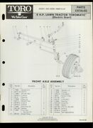 Toro 8hp Lawn Tractor Lawn Mower Model 55256 Illustrated Parts List Catalog