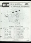Toro 7hp Lawn Tractor Lawn Mower Model 57131 57228 57241 Illustrated Parts List