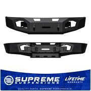 For 2009-2014 Ford F-150 Off-road Bumper Massive Steel Allows 16500 Lbs. Winch