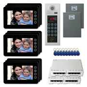 Office Building Security Video Intercom System Kit With 9 7 Color Monitors