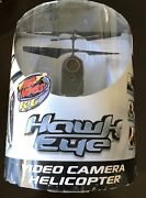 Air Hogs R/c Hawk Eye Video Camera Helicopter Black Copter Spin Master Brand New