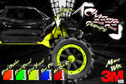 Traxxas X-maxx Hop-up Exterior Chassis Wrap And039neonand039 Genuine 3m Decals Graphics