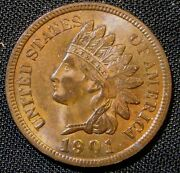 1901 1c Indian Small Cent Penny An1
