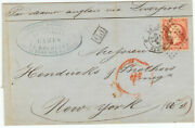 France Cover - 1863 La Rochelle To New-york Usa - Fresh - Cover636