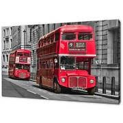 City Of London Red Buses Canvas Print Picture Wall Art Free Fast Delivery