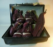 Rare1936 Goldsmith Leather Punching Bag 2 Pairs Boxing Gloves Carry Bag