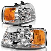 Four Winds Fun Mover 2008 Chrome Headlights Head Lamps Front Lights Rv - Set