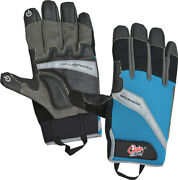 Camillus Cuda Fishing Brand Blue And Black Large Men's Offshore Gloves 18214