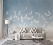 3d White Feathers I2266 Wallpaper Mural Sefl-adhesive Removable Sticker Wendy
