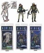 Aliens - 7 Scale Figures 3 Variations - Series 9 - Discontinued - Neca