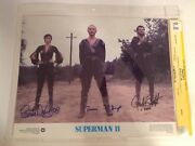 Cgc 9.8 Ss Superman Ii 2 Lobby Card Signed Stamp Douglas And Oand039halloran 1980 11x14