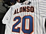 Pete Alonso 20ny Ny Mets Majestic Cool Base Home Jersey Plus 4 Free Cards