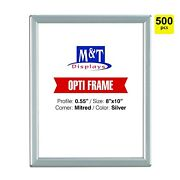 8x10 Snap Frame Mitered Corner Opti Frame Aluminum Wall Mounted Silver