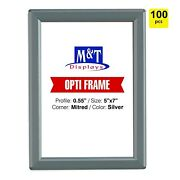 5x7 Snap Opti Frame Aluminum Wall Mounted Frames - Silver Front Loading-100