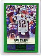 2014 Score Tom Brady End Zone Green Foil Refractor 6/6 Ssp 💎 Bucs