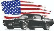 American Muscle Car Mustang Personalized Banner Man Cave Sign 3 Ft By 5 Ft