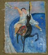 Rothman Signed Original Oil Painting Titled The Brass Ring