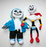 A Set Of 2 Undertale Plush Skeleton Brothers Papyrus And Sans Fan Created