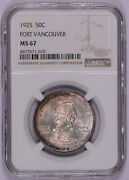 1925 Fort Vancouver Commemorative Half Ms67 Ngc Mint State 67 Free Shipping