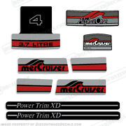 Mercruiser Alpha One 3.7 Liter V4 Decals - Discontinued Decal Reproductions