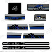 Mercruiser Alpha One 3.7 Liter V4 - Blue - Discontinued Decal Reproductions