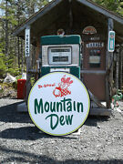Classic 37 Inch Mountain Dew Sign