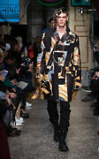Andpound1144 Moschino Couture Runway Designer Renaissance Print Coat - Made In Italy