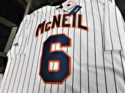Jeff Mcneil 6ny Mets Majestic Cool Base Home Jersey Plus 4 Free Vintage Cards