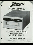 Zenith D635 D635-1 8 Eight-track Stereo Tape Deck Player Factory Service Manual