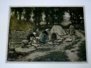 Manuel Robbe Pencil Sign Aqua Tint Etching Of Women In Village