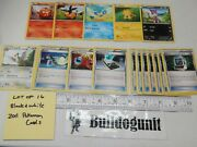 Lot Of 16 Pokemon Black And White Cards Energy Search Retrieval Tranquill 85/114