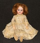 Antique Doll Armand Marseille Bisque 13 390 Wood Jointed Blond Hair Blue Eyes