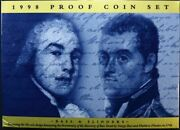 Australia 1998 Proof Coin Set Bass And Flinders