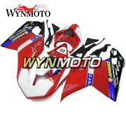 Red White Hulls For Ducati 848 1098 1198 07 08 09 10 11 12 Motorcycle Body Frame