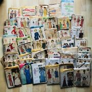 Lot Vintage Sewing Patterns 50s-80s Butterick Mccalls 50+ Patterns