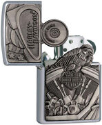 Zippo Harley Davidson Motorcycle Engineand Parts Windproof Lighter 11799