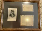 James Monroe Double 2x Autograph Signed As Secretary Of State