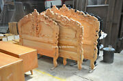 First Time In Uk 100 Oak Wood French Style Rococo Bed ...... Uk Super King Size