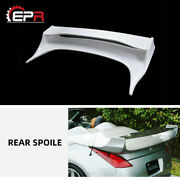For Nissan 350z Z33 Convertible Vras Style Frp Unpainted Rear Trunk Spoiler Wing