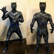 Customize Black Panther Tight Men Full Set Jumpsuit Avengers Cosplay Costumes