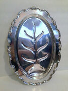 Fb Rogers Co Heavy 19 Georgetown Silverplate Tree Well Footed Meat Platter Exc+