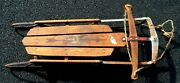 Antique Flexible Flyer Sled 42 Gently Used Steel Frame Collectors Item