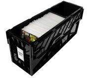 Bcw Long Comic Book Storage Box Bin Heavy Duty Plastic Stackable Hold 300 Bags