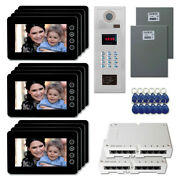 Home Door Panel Security Video Intercom System Kit With 12 7 Color Monitors