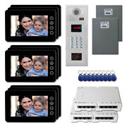 Office Security Door Panel Video Intercom System Kit With 9 7 Color Monitors