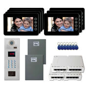 Home Apartment Unit Video Entry Intercom System Kit With 7 7 Color Monitors