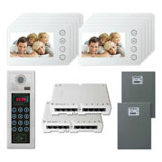 Home Entry Door Panel Security Video Intercom System With 10 5 Color Monitors