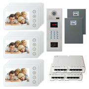 Home Security Door Panel Video Intercom System Kit With 12 5 Color Monitors